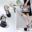 รองเท้าส้นสูงสีดำ/ทอง/เงิน ไซต์ 34-40 thumbnail 13