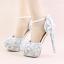 รองเท้าเจ้าสาว ไซต์ 34-39 สีฟ้า สูง 3.6 / 4.8 / 5.6 นิ้ว thumbnail 6