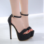 รองเท้าส้นสูงแบบเรียบแต่เก๋สีดำ/เทา ไซต์ 34-40 thumbnail 4