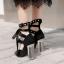 รองเท้าส้นสูงสีดำ/ดำ-ขาว ไซต์ 34-39 thumbnail 5