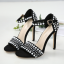 รองเท้าส้นสูงสีดำ/ครีม ไซต์ 35-42 thumbnail 6