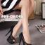 รองเท้าส้นสูง ไซต์ 34-40 สี : ทอง/เงิน/ดำ thumbnail 9