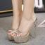 รองเท้าส้นสูง ไซต์ 34-39 สีทอง/เงิน thumbnail 4