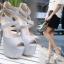รองเท้าส้นสูงสีเงิน/ดำ ไซต์ 35-40 thumbnail 2