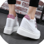 รองเท้าผ้าใบเสริมส้นสีชมพู/ดำ/เงิน ไซต์ 35-39 thumbnail 7