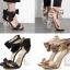 รองเท้าแฟชั่น ไซต์ 35-40 สีดำ/ทอง thumbnail 1