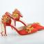 รองเท้าเจ้าสาวสีแดงปลายแหลม ไซต์ 34-38 thumbnail 1