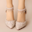 รองเท้าเจ้าสาวสีขาวแต่งคริสตัลงานหรู ไซต์ 34-39 thumbnail 2