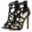 รองเท้าส้นสูงสายไขว้สีชมพู/ดำ ไซต์ 35-40 thumbnail 7