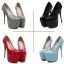 รองเท้าส้นสูงหนังแก้วสีแดง/ดำ/เทา/ฟ้า ไซต์ 34-40 thumbnail 12