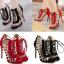 รองเท้าส้นสูงสีแดง/ดำ ไซต์ 35-40 thumbnail 1