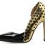 รองเท้าส้นสูงปลายแหลมสีทอง/ชมพูนู๊ด ไซต์ 35-40 thumbnail 9