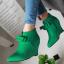 รองเท้าส้นเตารีดปลายแหลมสีชมพู/ดำ/เขียว ไซต์ 34-43 thumbnail 9