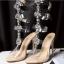 รองเท้าส้นสูงแต่งคริสตัลดูสวยหรู สีพื้นดำ/ขาว/นู๊ด ไซต์ 34-43 thumbnail 15