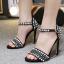รองเท้าส้นสูงสีดำ/ครีม ไซต์ 35-42 thumbnail 2