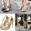 รองเท้าส้นสูงสายไขว้สีครีม/ดำ ไซต์ 35-40 thumbnail 1