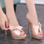 รองเท้าส้นสูงแบบสวมสีชมพู/แดง/ดำ ไซต์ 34-39 thumbnail 5