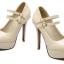 รองเท้าส้นสูงคัดชูหนังแก้วสีดำ/แดง/ครีม ไซต์ 34-43 thumbnail 10