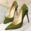 รองเท้าส้นสูงปลายแหลมทรงสวยสีดำ/แดง/เขียว/ชมพูนู๊ด ไซต์ 34-39 thumbnail 4