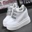 รองเท้าผ้าใบเสริมส้นสีชมพู/ดำ/เงิน ไซต์ 35-39 thumbnail 10