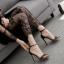 รองเท้าส้นสูงแบบเรียบแต่สวยหรูสีดำ ไซต์ 35-40 thumbnail 4