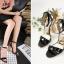 รองเท้าส้นสูงส้นหนาสีดำ/ทอง ไซต์ 34-40 thumbnail 5