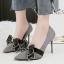 รองเท้าส้นสูงคัดชูปลายแหลมสีแดง/ดำ/เทา/น้ำตาล ไซต์ 34-39 thumbnail 9