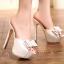 รองเท้าส้นสูงสีขาว/ดำ ไซต์ 34-39 thumbnail 4