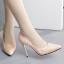 รองเท้าส้นสูงปลายแหลมผ้าย่นสีโอรส/ดำ ไซต์ 35-39 thumbnail 3