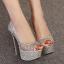 รองเท้าส้นสูง ไซต์ 34-40 สี : ทอง/เงิน/ดำ thumbnail 5