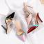 รองเท้าส้นสูงปลายแหลมแบบสวมสีแดง/ชมพู/ดำ/ครีม ไซต์ 34-38 thumbnail 14