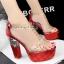 รองเท้าส้นสูง ไซต์ 34-39 สีดำ สีแดง สีเงิน สีทอง สีชมพูอ่อน สีน้ำเงิน thumbnail 7