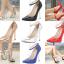 รองเท้าส้นสูงปลายแหลม 5.2 นิ้ว สีดำ/แดง/เงิน/ทอง/น้ำเงิน ไซต์ 35-43 thumbnail 1
