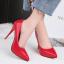 รองเท้าตัดชูปลายแหลมทรงสวยสีดำ/แดง/เทา/นู๊ด ไซต์ 34-39 thumbnail 11