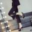 รองเท้าส้นสูงแบบสวมสีดำ/น้ำตาล ไซต์ 34-39 thumbnail 5