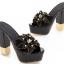 รองเท้าส้นสูงแบบสวมส้นหนาแต่งดอกไม้หรูๆสีดำ/ชมพูอ่อน/ชมพูเข้ม/ขาว/เงิน ไซต์ 34-43 thumbnail 8