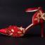 รองเท้าเจ้าสาวสีแดงแต่งดีเทลสวย ไซต์ 34-39 thumbnail 2