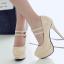รองเท้าส้นสูงคัดชูหนังแก้วสีดำ/แดง/ครีม ไซต์ 34-43 thumbnail 7