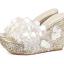 รองเท้าส้นเตารีดส้นติดกากเพชรแน่นๆสีเงิน/ทอง/ขาว/ชมพู ไซต์ 34-39 thumbnail 12