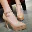 รองเท้าส้นสูงปลายแหลมเก็บทรงสีทอง/เงิน/ดำ/แดง ไซต์ 34-43 thumbnail 6