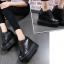รองเท้าผ้าใบเสริมส้นสีชมพู/ดำ/เงิน ไซต์ 35-39 thumbnail 5
