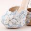 รองเท้าเจ้าสาว ไซต์ 34-39 สีฟ้า สูง 3.6 / 4.8 / 5.6 นิ้ว thumbnail 9