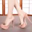 รองเท้าส้นสูงแบบสวมสีดำ/ชมพู ไซต์ 34-39 thumbnail 4