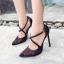 รองเท้าส้นสูงปลายแหลมสีเงิน/ดำ ไซต์ 35-40 thumbnail 2
