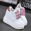 รองเท้าผ้าใบเสริมส้นสีชมพู/ดำ/เงิน ไซต์ 35-39 thumbnail 11
