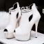 รองเท้าส้นสูง ไซต์ 34-39 สีดำ สีขาว สีเงิน สีเทา thumbnail 10