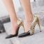 รองเท้าส้นสูงปลายแหลมสีทอง/ชมพูนู๊ด ไซต์ 35-40 thumbnail 2