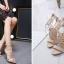 รองเท้าส้นสูงสีครีม/ดำ ไซต์ 35-40 thumbnail 6