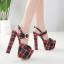 รองเท้าส้นสูงลานสก๊อตสีแดง ไซต์ 34-40 thumbnail 2