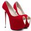 รองเท้าส้นสูงเปิดหน้าสีแดง/ดำ ไซต์ 35-40 thumbnail 6